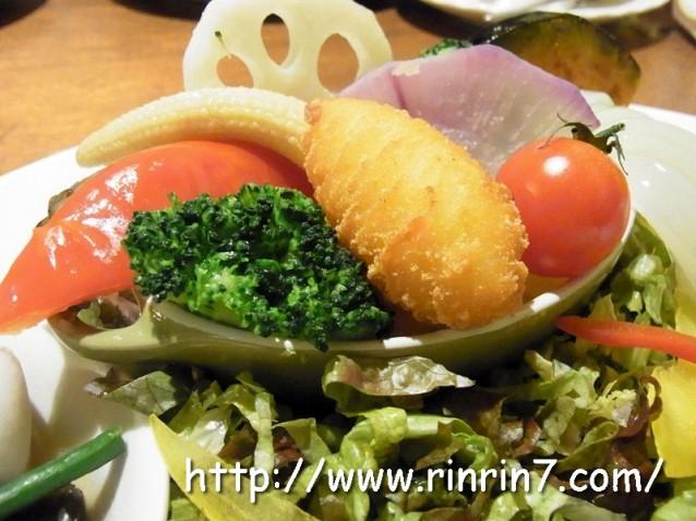 びっくりドンキー大谷地店の店舗限定メニューほっこり温野菜のサラダマルシェ
