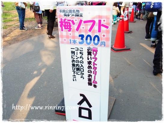 平岡公園梅ソフト